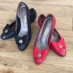 Two pairs of Bally of Switzerland pumps